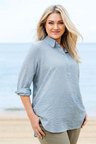 Plus Size - Sara Crushed Stripe Shirt