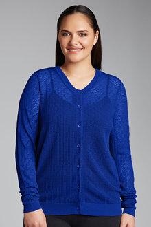 Plus Size - Sara Pointelle Cardigan