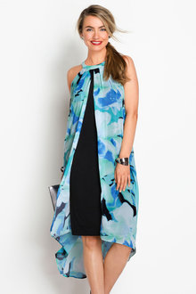 Capture Printed Overlay Dress