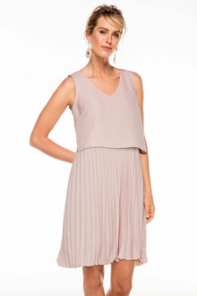 Grace Hill Layered Pleat Dress