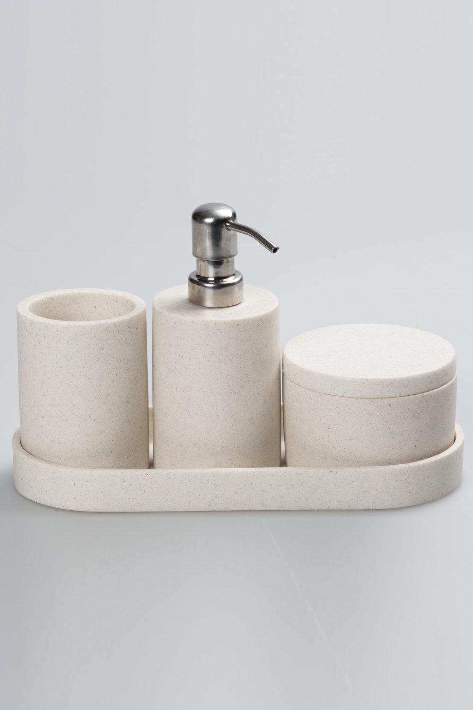 Willa Sandstone Bathroom Set of 4 Online | Shop EziBuy Home
