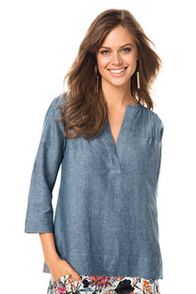 Emerge Pintuck Linen Shirt