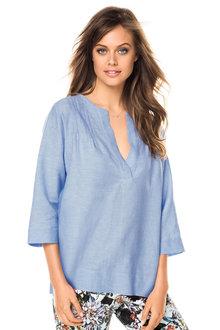 Emerge Pintuck Linen Shirt - 161885