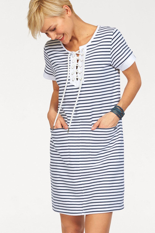 7a1a11b1fed Urban Stripe Eyelet Detail Dress Online