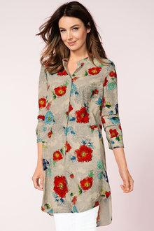 Grace Hill Longline Shirt - 161934