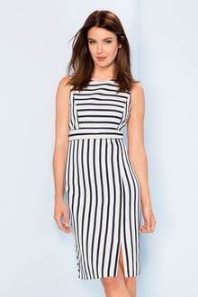 Grace Hill Textured Stripe Shift