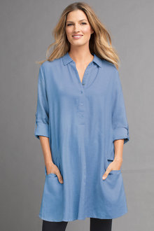 Capture Half Placket Tunic - 162106
