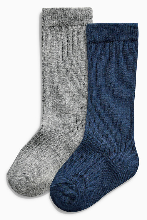 Next Grey/Navy Socks Two Pack (Younger Boys)