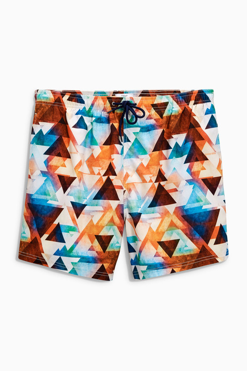 Next Geo Print Swim Shorts