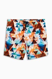 Next Geo Print Swim Shorts - 162636