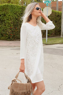 Urban Lace Spliced Dress