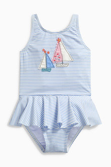 Next Blue Stripe Applique Swimsuit (3mths-6yrs)