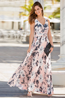 Together Pleat Maxi Dress