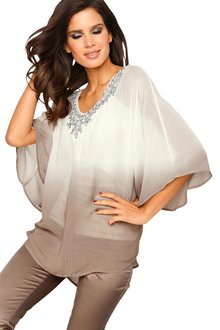 Heine Embroidered Ombre Night Tunic