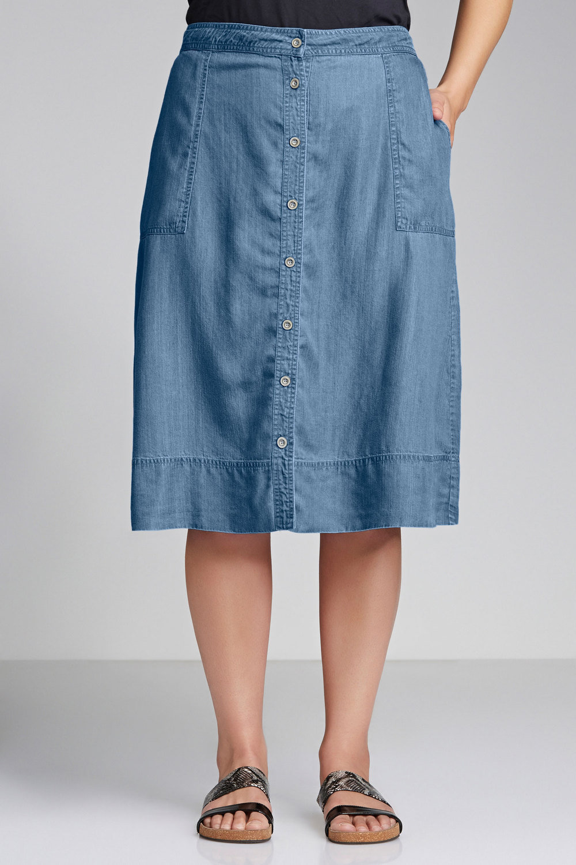 629e569f006c3 Plus Size - Sara Tencel Skirt