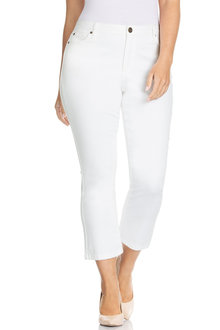 Plus Size - Sara Crop Kick Flare Jean