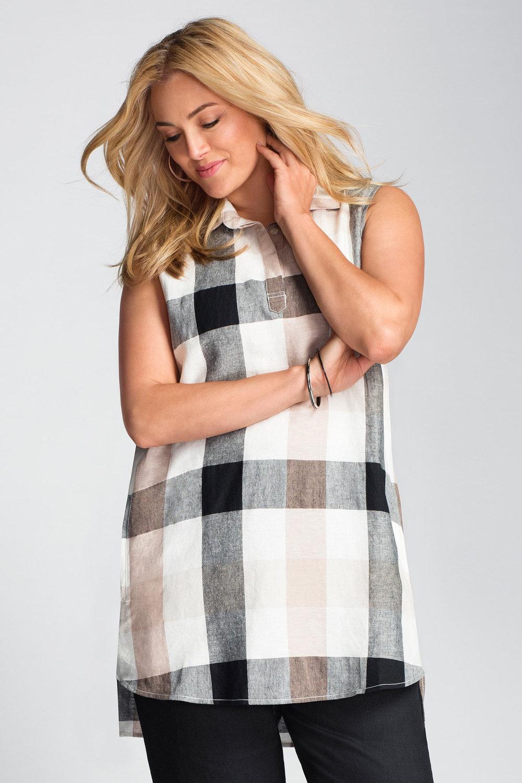 dcefa68ec2e Plus Size - Sara Linen Tunic