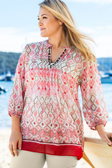 Plus Size - Sara Jewel Kaftan - 163048