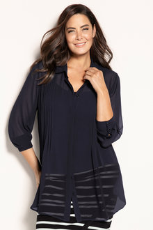 Plus Size - Sara Pintuck Shirt