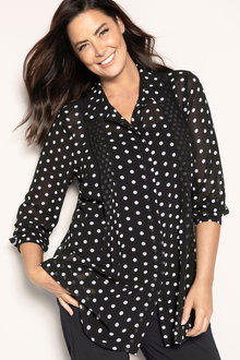 Plus Size - Sara Pintuck Shirt