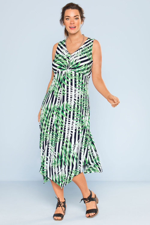 Plus Size - Sara Twist Front Maxi Dress
