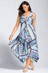 Plus Size - Sara Twist Front Maxi Dress