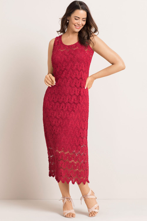 Plus Size - Sara Lace Maxi Dress