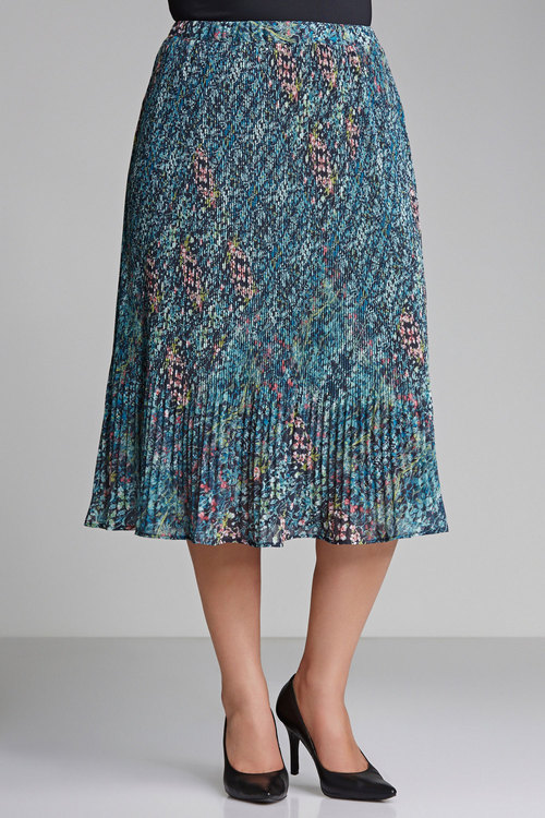 Plus Size - Sara Pleat Skirt