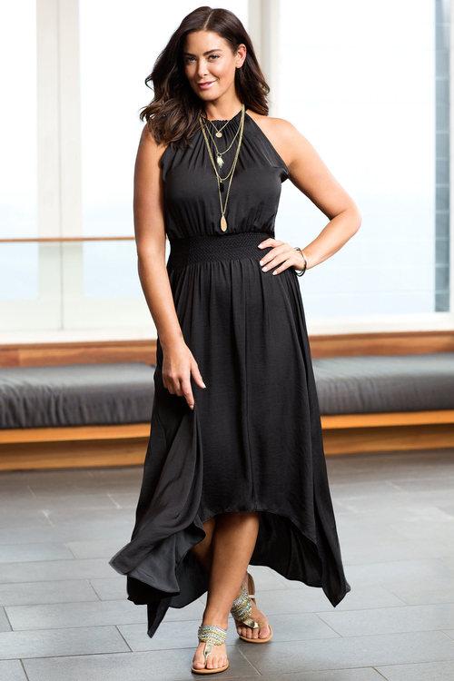 Sara Handkerchief Maxi Dress