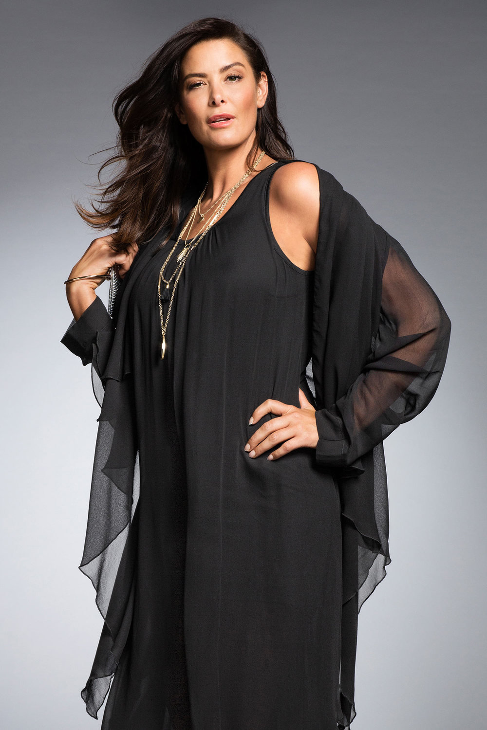 168f83143e Plus Size - Sheer Layer Jacket