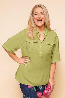 Plus Size - Sara Relaxed Shirt - 163155