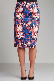 Plus Size - Sara Cotton Sateen Stretch Skirt