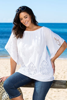 Plus Size - Sara Off Shoulder Top
