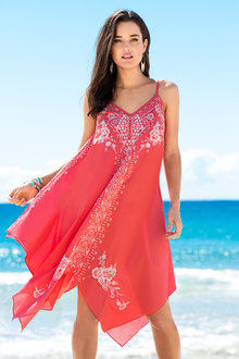 Capture Swimwear Trapeze Embroidery Cover up - 163186