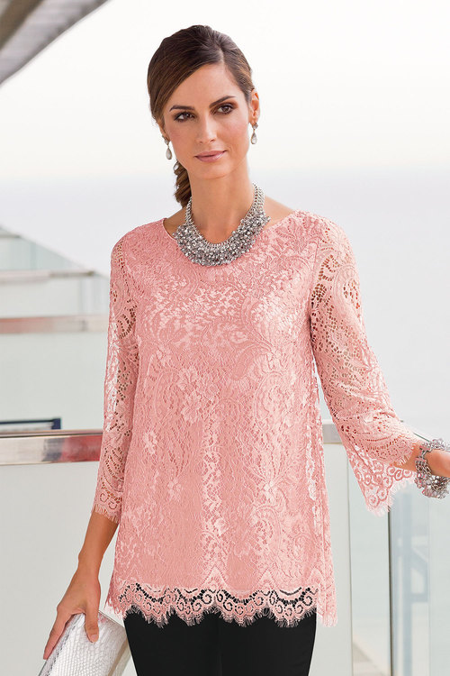European Collection Lace Top