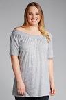 Plus Size - Sara Knit Shirred Top