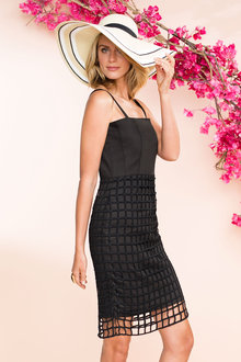 Emerge Structured Lace Dress