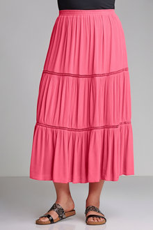 Plus Size - Sara Tiered Trim Skirt