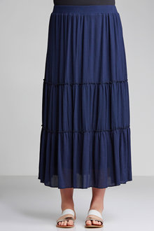 Plus Size - Sara Tiered Maxi Skirt