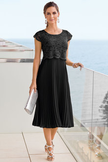 Together Lace Pleat Dress