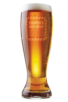 Personalised Under Construction Beer Glass