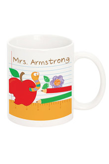 Personalised Teachers Worm Mug