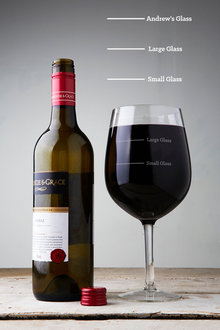 Personalised Measure Wine Glass