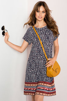 Emerge Short Sleeve Swing Dress