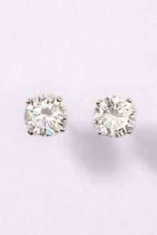 Next Sterling Silver Cubic Zirconia Stud Earrings