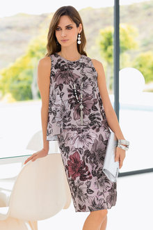 Together Layer Print Dress