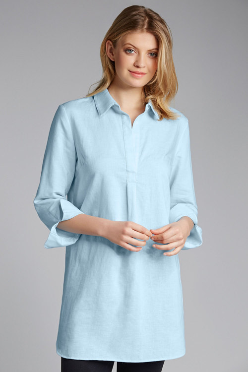 Capture Linen Blend Longline Shirt