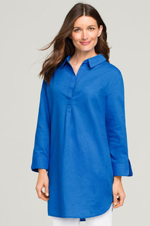 Capture Linen Blend Longline Shirt - 163713