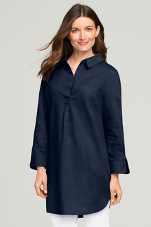 Capture Linen Blend Longline Shirt - 163713