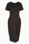 Next Black Ponte Dress Maternity